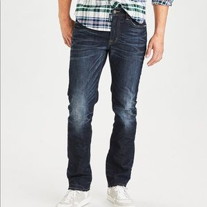 Slim straight flex jeans